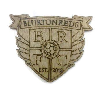 Blurton Reds Plywood Football Crest