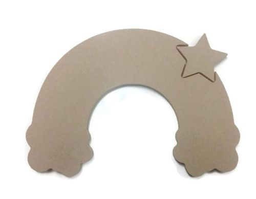 MDF Wooden Rainbow 6mm or 15mm Thick