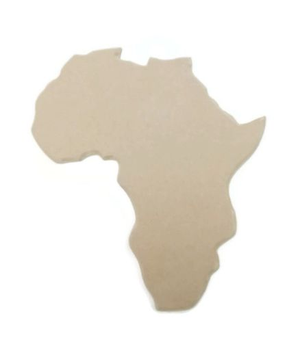Africa Continent With Bevelled Edge Various Sizes 6mm Thick