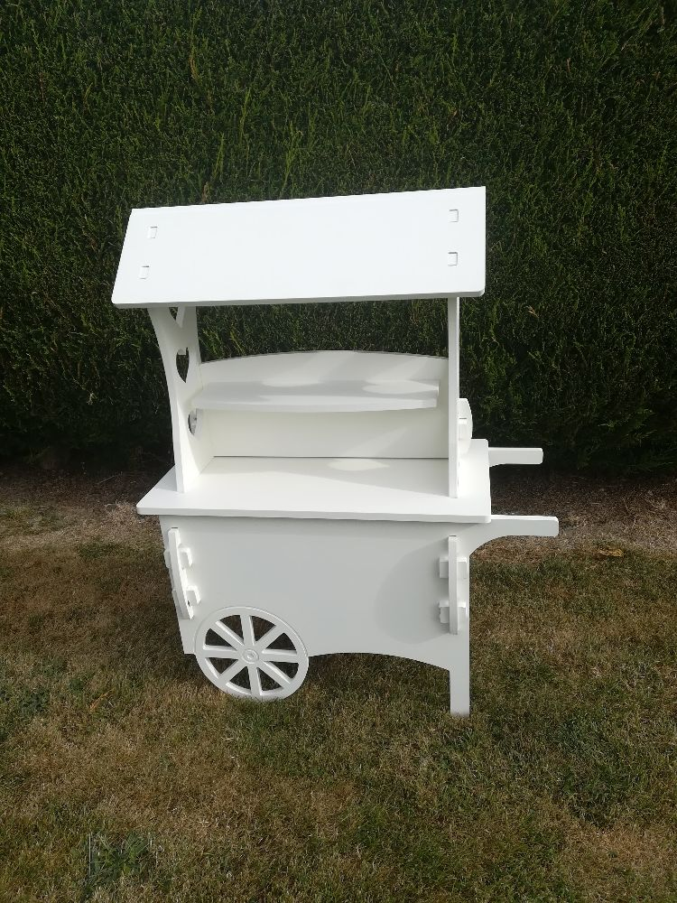 Painted Wooden Candy Carts