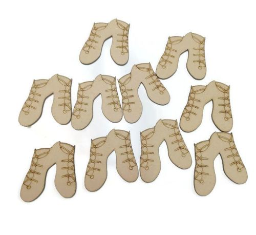 Irish Dancing Shoes 4mm MDF 80mm high, pack of 10
