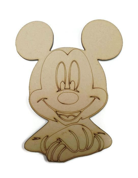Mickey Mouse Head Figure 100mm - 500mm, 4mm Thick