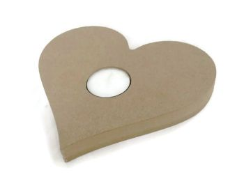 Wooden MDF Candle Holder 18mm Thick - Heart