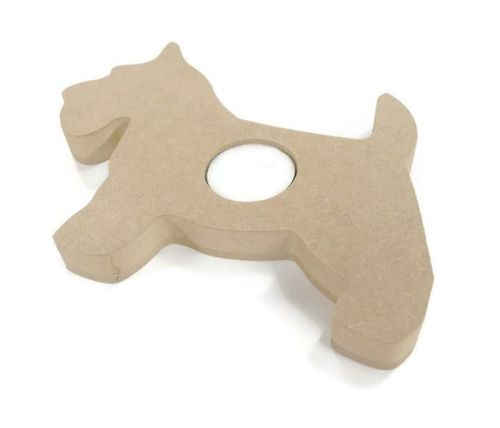 Wooden MDF Candle Holder 18mm Thick - Dog