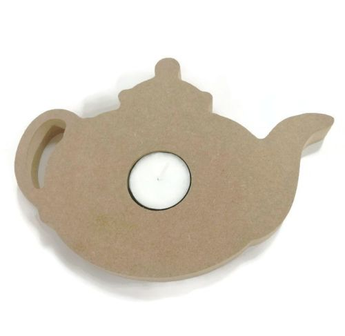 Wooden MDF Candle Holder 18mm Thick - Teapot