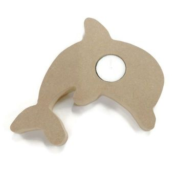 Wooden MDF Candle Holder 18mm Thick - Dolphin