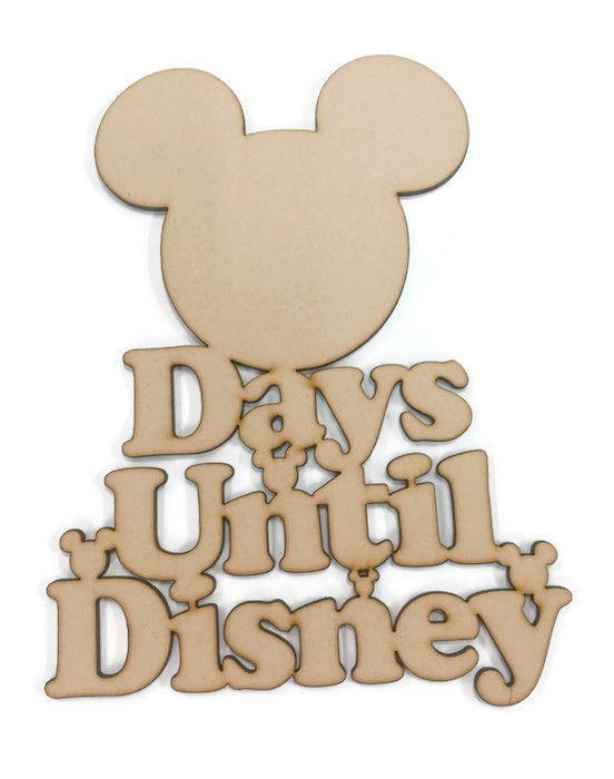 Days Until Disney Mickey Mouse Head 4mm MDF 480mm High