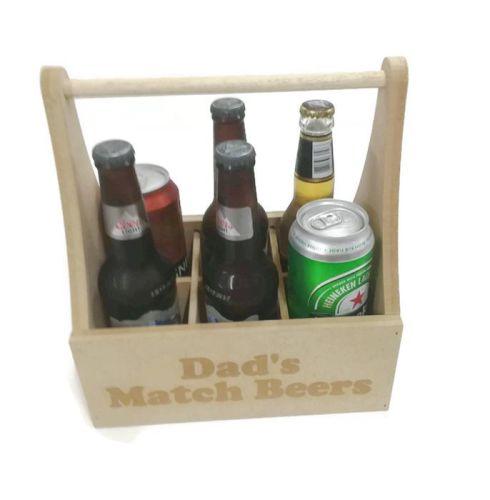 Personalised 6 Pack Beer Holder - MDF