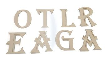 3mm Thick Wooden MDF Algerian Style Letters / Numbers, 2cm - 10cm sizes