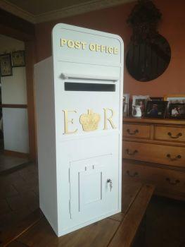 Large 1 metre Royal Mail Wedding Post Box, Lock & Key, Painted