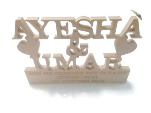 MDF Personalised Etched Wedding Stand Freestanding 18mm Thick