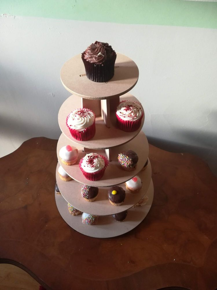Wooden MDF Cupcake Sweet Stand 5, 7 or 9 tier 6mm Strong Wedding Birthday e