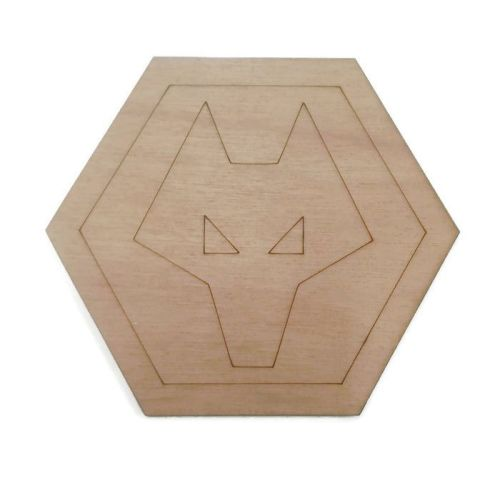 Wolves Plywood Football Crest
