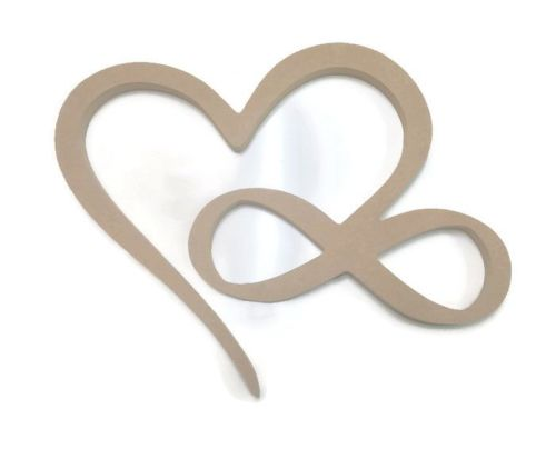 MDF Wooden Intertwined Heart 6mm or 15mm Thick