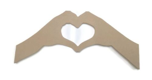 MDF Wooden Heart Arms 6mm or 15mm Thick
