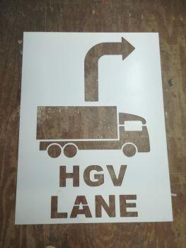 Custom PVC Floor / Wall / Pavement / Doors / Concrete Stencil Signs Airbrush (HGV LANE Sign)