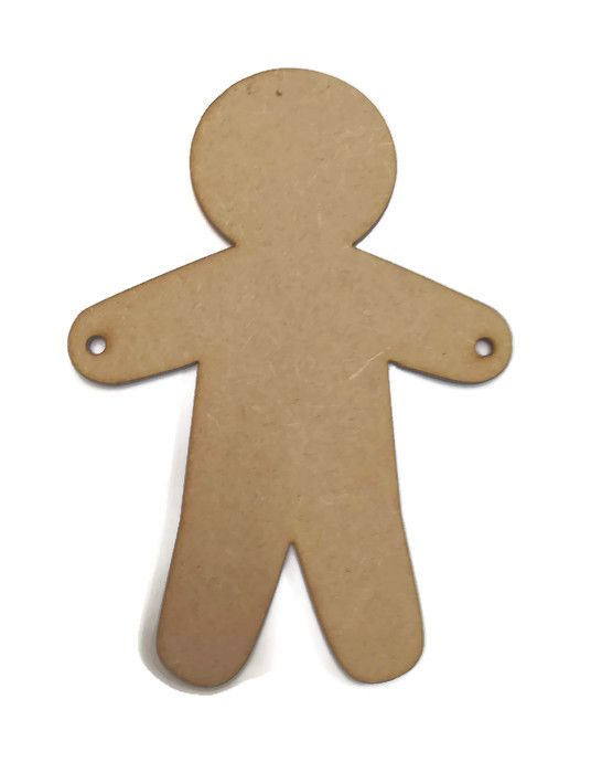 MDF Wooden Man Boy Male Figure 6mm or 15mm Thick
