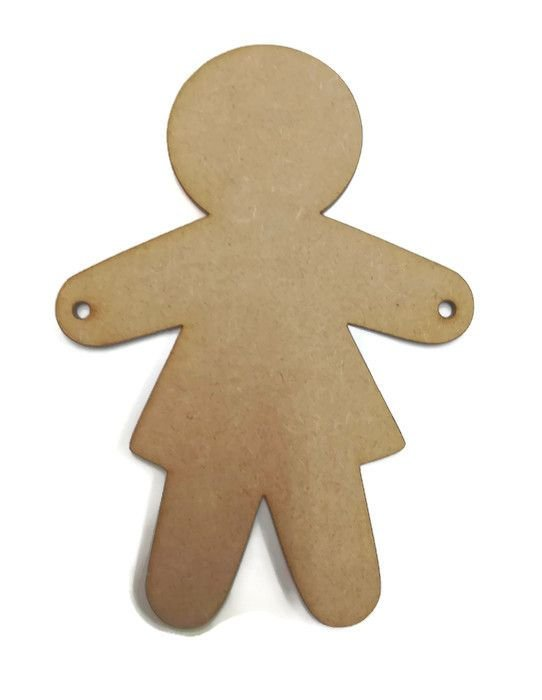 MDF Wooden Female Girl Woman Figure 6mm or 15mm Thick