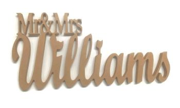 Freestanding 18mm Thick Name Stand Joined