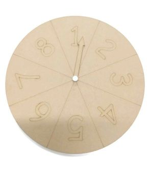 Spinning Circle 1 - 8 - With Spinning Arrow (can be personalised)