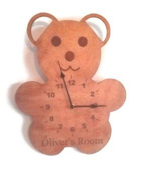Bear Style Personalised Clock