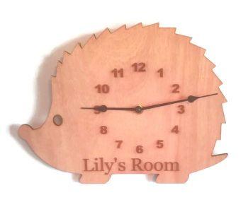 Hedgehog Style Personalised Clock