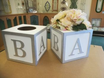Wooden Cubes Painted / Unpainted, Custom made, Hollow Hole in Top For Decor