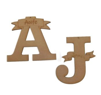 MDF Wooden Personalised Name Letters Various Sizes 3mm MDF Any Letter Available