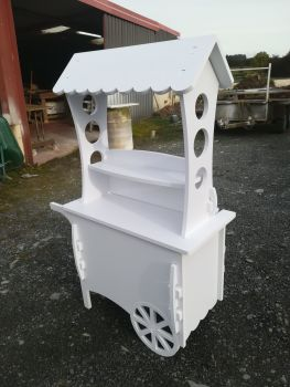 Candy Carts Sweet Wedding Cart Party Tall Medium Size 1420mm Solid White PVC