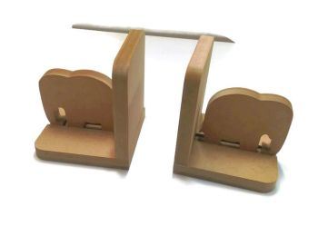 Wooden Pair Bookends - Elephant