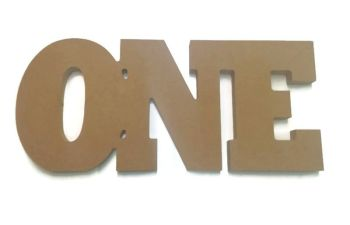 MDF Wooden 'ONE' 25mm Thick 150mm high