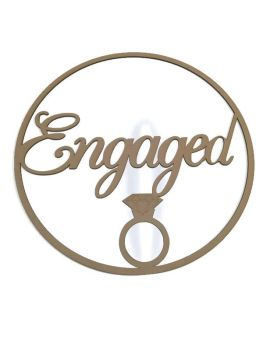 Circle Logo Plaques Wall Engaged Wedding Custom Made With Any Lettering 3mm MDF - Engagement