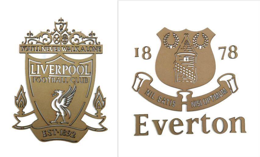 MDF Hollow Football Logos