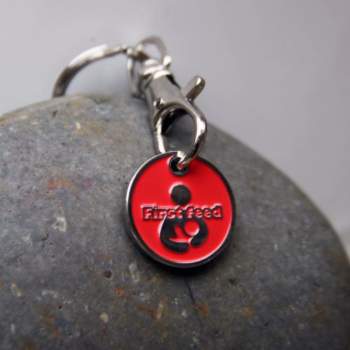 First Feed Breastfeeding Milestone Token Keyring