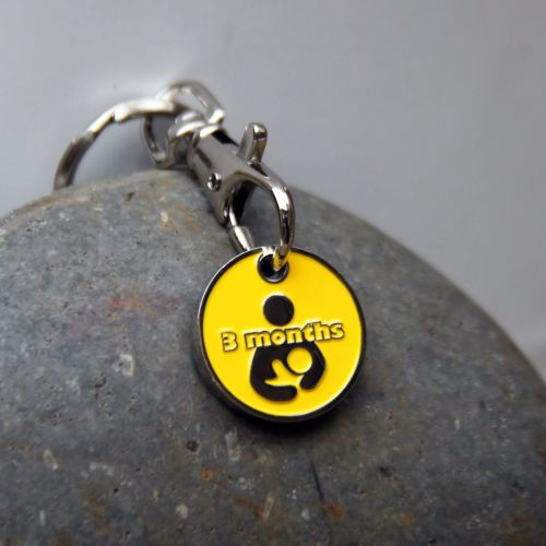 3 month Breastfeeding Milestone Token Keyring