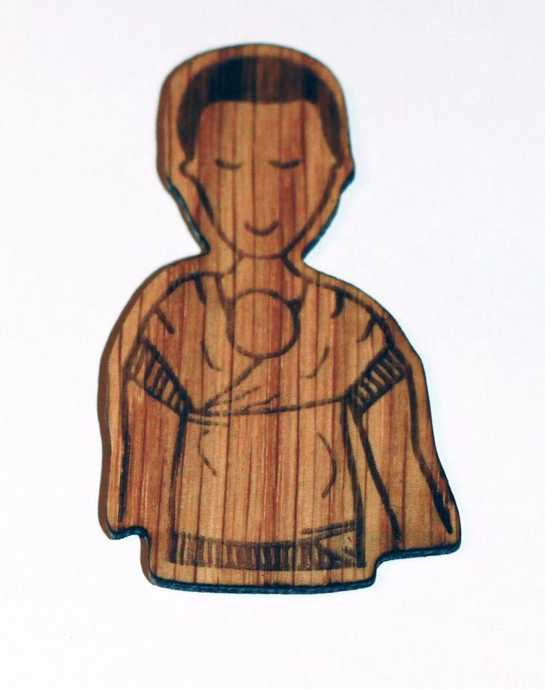 Wooden Magnet-Kangaroo Papa