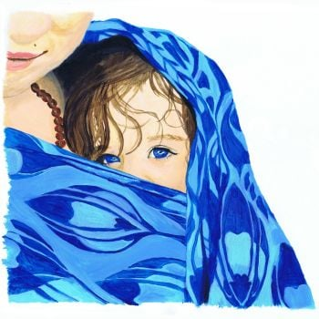 'Blue eyed boy' Giclee Print
