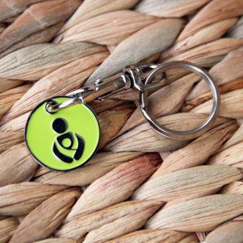 Lime Green Babywearing Token Keyring