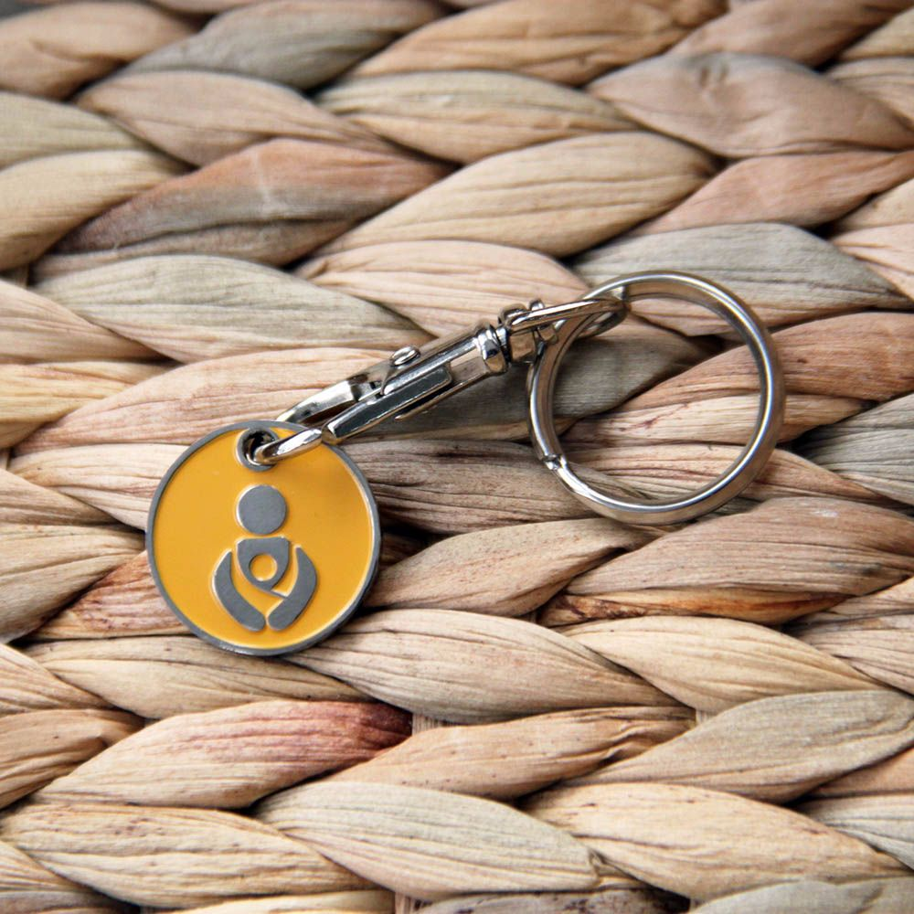 Sunset Yellow Babywearing Token Keyring