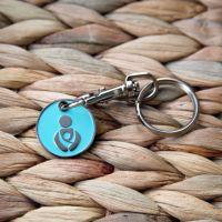 Turquoise Babywearing Token Keyring
