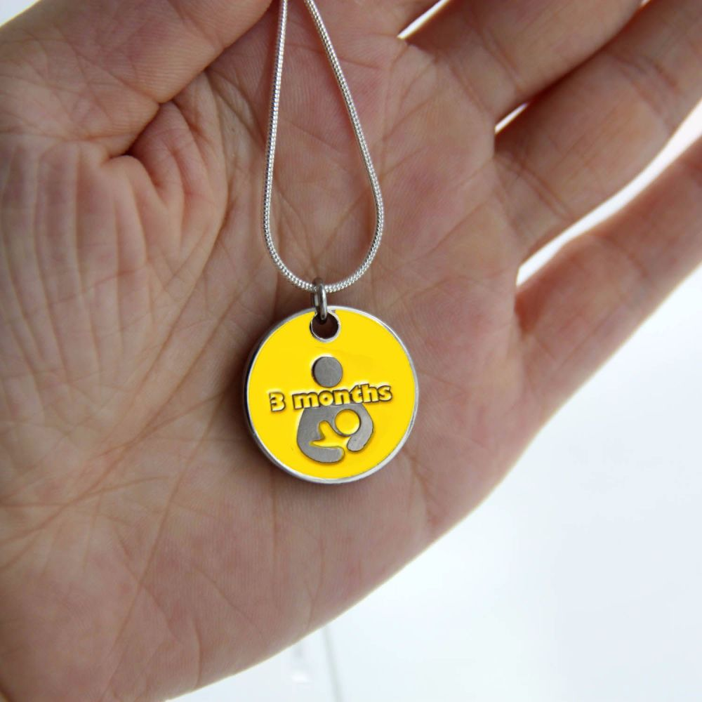 3 month Token with Silver Necklace