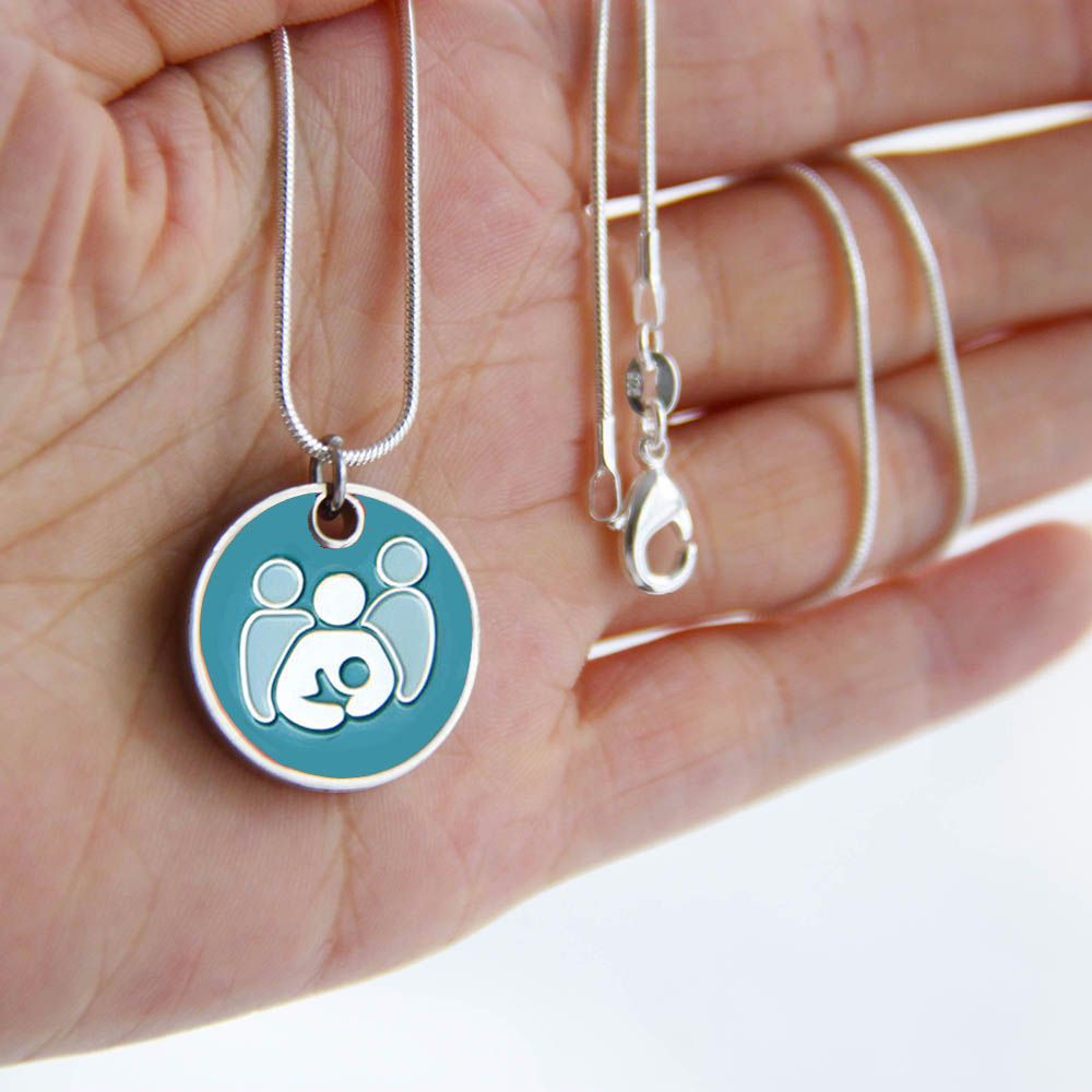 Breastfeeding Supporter Token with Silver Necklace