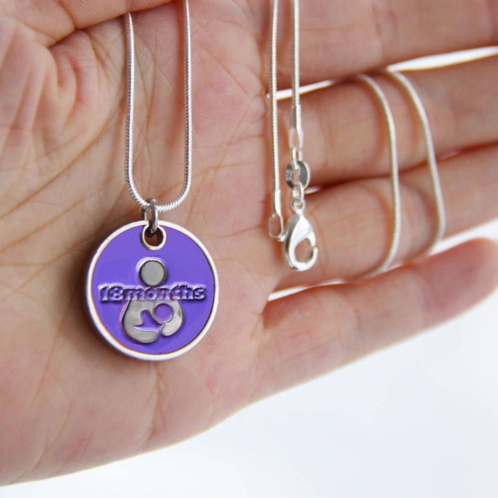 18 month Token with Silver Necklace