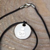 Tandem/Twin Breastfeeding with Black Cord Necklace