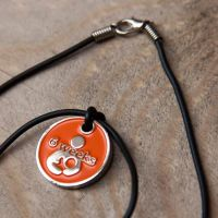 6 Week Token with Black Cord Necklace