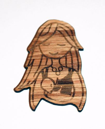 Wooden Magnet- Breastfeeding Mama