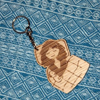 Wooden Keyring-Cosleeping Cuddles