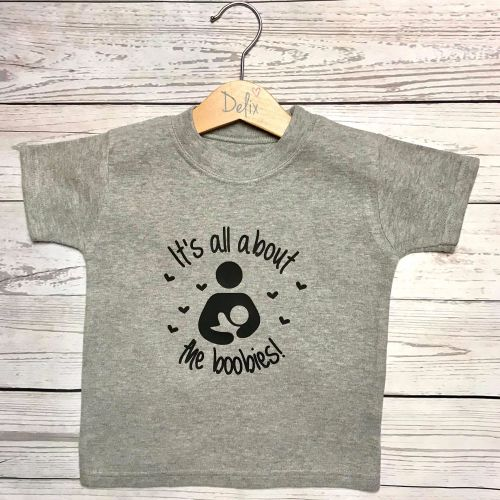 'All about the Boobies!' child's t-shirt