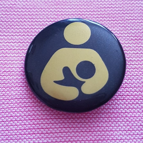 Breastfeeding logo button badge
