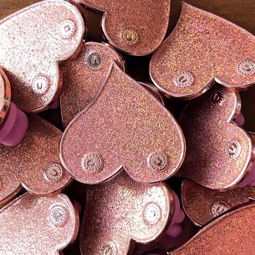 Bronze / Rose gold boobie enamel pin badge